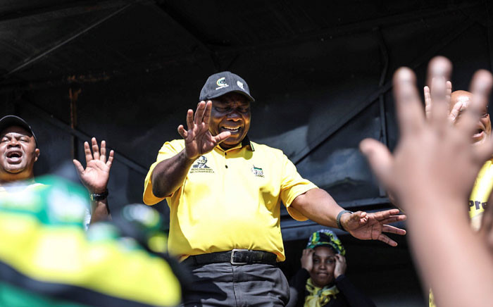 ANC president Cyril Ramaphosa on the campaign trail. Picture: Abigail Javier/EWN