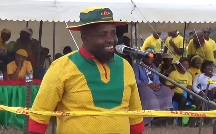 A screenshot of Lesotho's Defence Minister Tefo Mapesela. Picture: ABCKobotata/Youtube