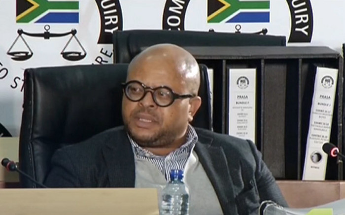 A YouTube screengrab of lawyer Madimpe Mogashoa testifying at the state capture commission of inquiry in Johannesburg on 12 August 2020. Picture: SABC/YouTube