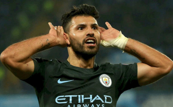 Manchester City's Sergio Aguero celebrates his goal against Napoli in the Champions League clash on 1 November 2017. Picture: Facebook.com
