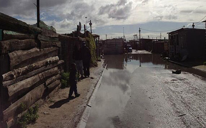 FILE: Cape Town rains have led to flooding in Kosovo informal settlement. Picture: EWN.