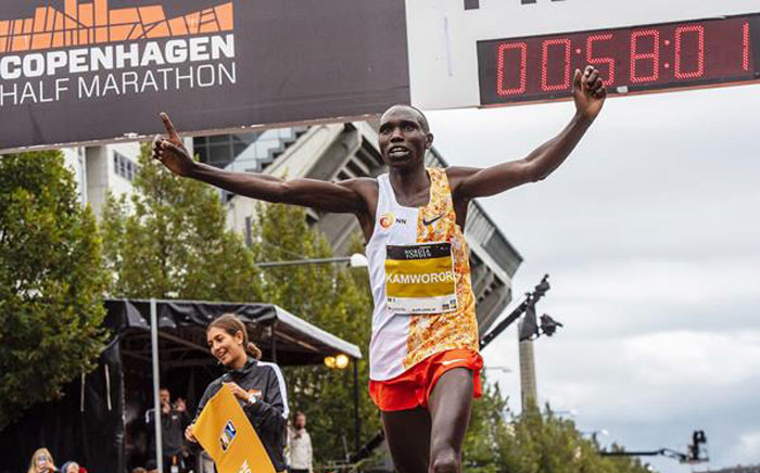 Kenya's Geoffrey Kamworor pictured at the IAAF World Cross Country Championships on 16 September 2019. Picture: www.iaaf.org