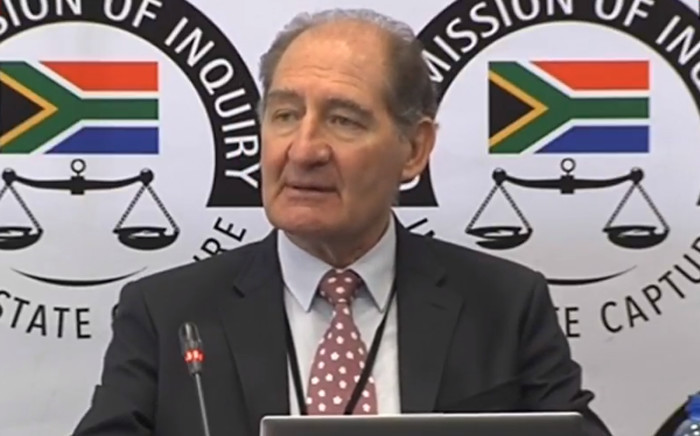 A video screengrab of lawyer Brian Currin at the at the Zondo Commission of Inquiry into state capture in Parktown, Johannesburg.