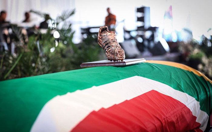 The funeral service of former Bafana Bafana forward Phil Masinga at the Khumalo Stadium in Khuma, North West province on 24 January 2019. Picture: Abigail Javier/EWN