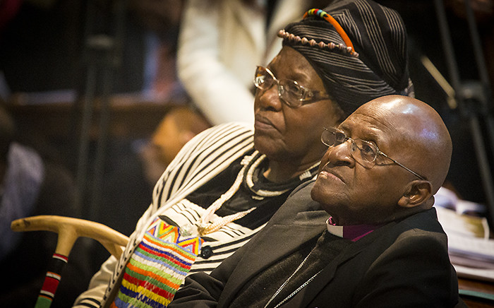 FILE. Desmond and Leah Tutu mark their 60th wedding anniversary at St George's Cathedral in Cape Town on 2 July 2015. Picture: Aletta Gardner/EWN