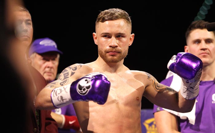 FILE: Carl Frampton prepares for the start of his WBA featherweight title fight against Leo Santa Cruz at MGM Grand Garden Arena in January 2017 in Las Vegas, Nevada. Picture: AFP
