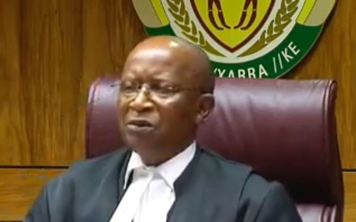A screengrab of Judge Phineas Mojapelo delivering judgment in the Equality Court related to the apartheid flag on 21 August 2019.