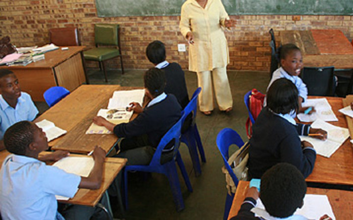 A school teacher in class at Ikusasa Combined School in Thembisa. Picture: Taurai Maduna/Eyewitness News