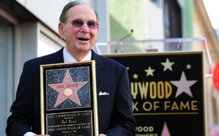 US songwriter Hal David after being honored by the Hollywood Chamber of Commerce with his star on the Hollywood Walk of Fame on  14 October 14, 2011. Picture: AFP.