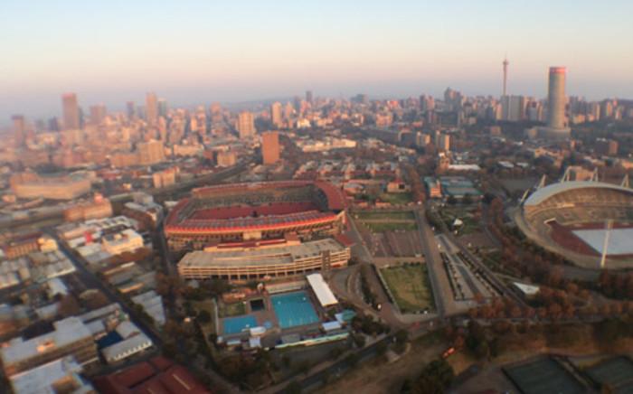 An aerial view of voting stations around Johannesburg. Picture: Aki Anastasiou/EWN.