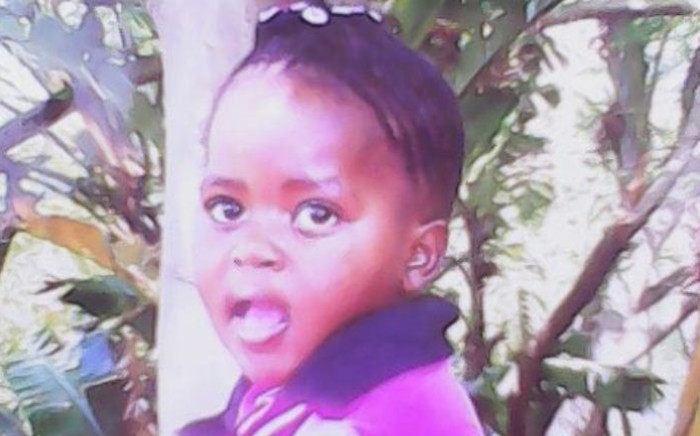 The body of five-year-old Madira Selota was discovered in the Phomolong Township on 5 September 2014. Picture: Supplied.