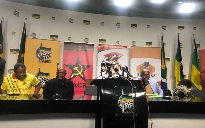 The governing party, together with its alliance partners the SACP, Cosatu and Sanco held a briefing at Luthuli House. Picture: Clement Manyathela/EWN