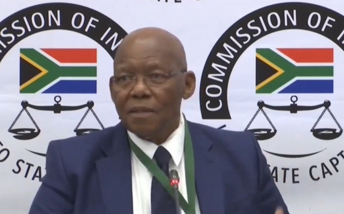 FILE: A screengrab of former SABC and Eskom board chair Ben Ngubane giving evidence at the state capture inquiry on 9 September 2019. Picture: SABC/YouTube