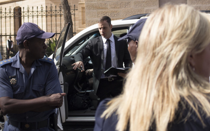 Oscar Pistorius arrives in the Pretoria High Court for his sentencing on 16 October 2014. Picture: Christa Eybers/EWN