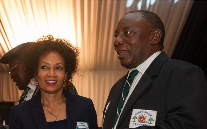 Presidential hopefuls, ANC deputy president Cyril Ramaphosa and Lindiwe Sisulu. Picture: GCIS