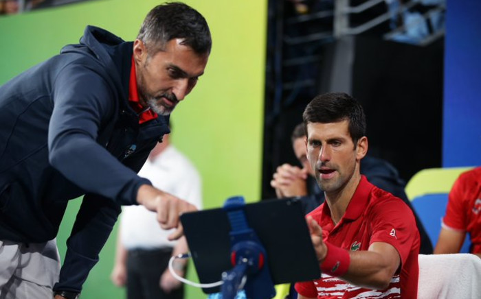 Novak Djokovic seen at the ATP Cup final on 12 January 2019. Picture: @ATPCup/Twitter