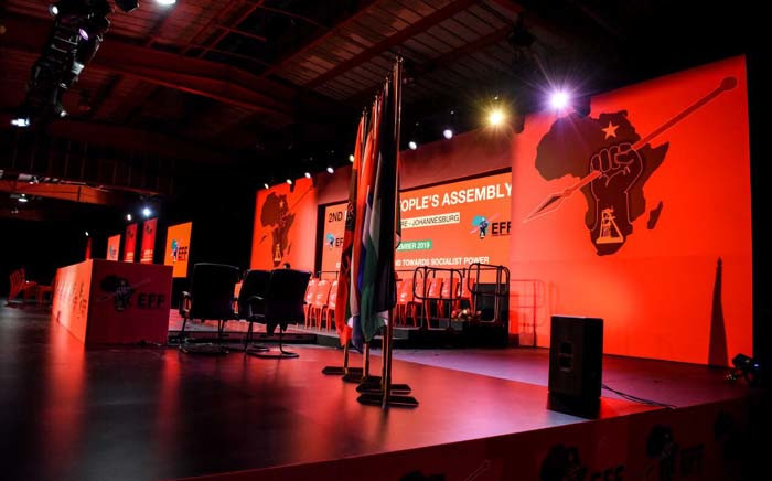 The EFF will hold its second National People's Assembly from Friday to Monday 16 December 2019 in Nasrec, Johannesburg. Picture: @EFFSouthAfricaa/Twitter