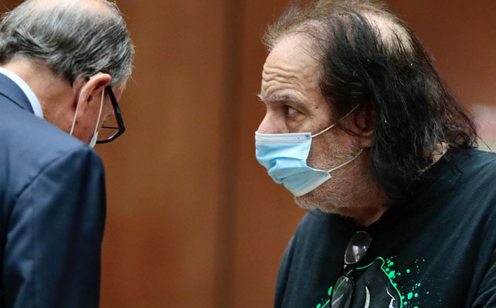 Adult film actor Ron Jeremy (R) makes his first appearance in downtown Los Angeles Criminal Court, 23 June 2020. Jeremy has been charged with raping three women and sexually assaulting a fourth, Los Angeles prosecutors said. Picture: AFP