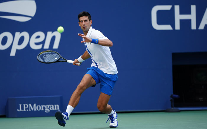 Novak Djokovic in action at the US Open on 6 September 2020. Picture: @usopen/Twitter