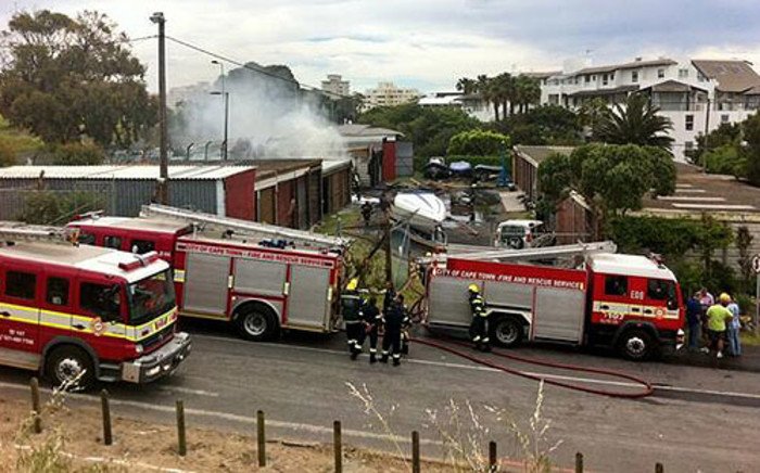 The blaze broke out at the garage on 24 October 2013. Picture: Graeme Raubenheimer/EWN.