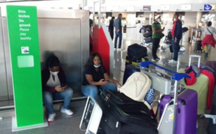 Thobile Makhanya and her colleagues arrived in Frankfurt on Friday to board an SAA flight back home, but they were told that not all of them could be accommodated on that flight. Picture: Supplied