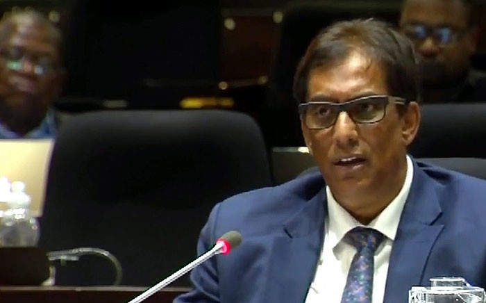 FILE: A screengrab shows media mogul Iqbal Survé at the PIC Inquiry on 2 April 2019.