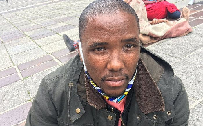 Bulelani Qholani (the man removed from his home naked) says he is still in pain after City of Cape Town law enforcement officers manhandled him. He said he was treated as if he had no human rights.  Picture: Jarita Kassen/EWN