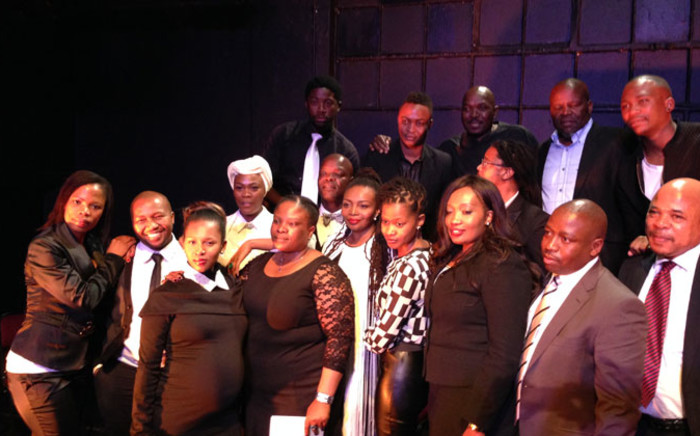 The striking cast members of popular TV series Generations and their legal team addressed the media on 26 August 2014 following labour disputes with the SABC. Picture: Reinart Toerien/EWN.
