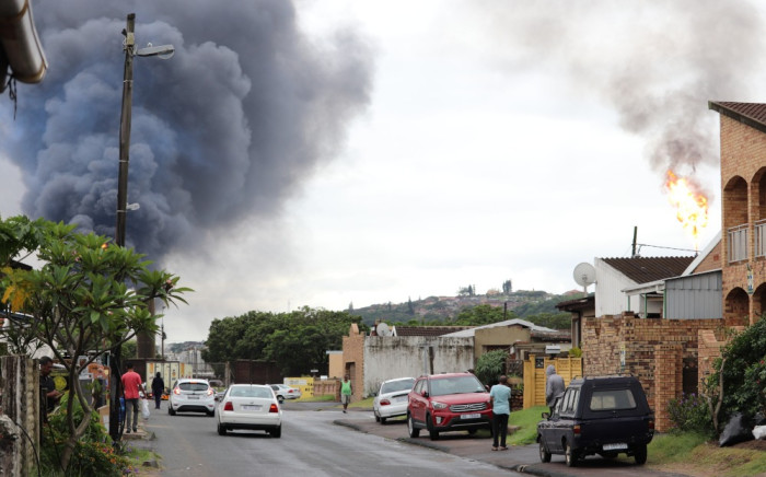 The South Durban Community Environmental Alliance demanded that the refinery be shut down. Picture: Riosha Kuar
