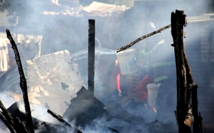 FILE: A photograph taken after a shack fire in Jumpers, Cleveland on 16 June 2012. Picture: Brad Bennett/Facebook.