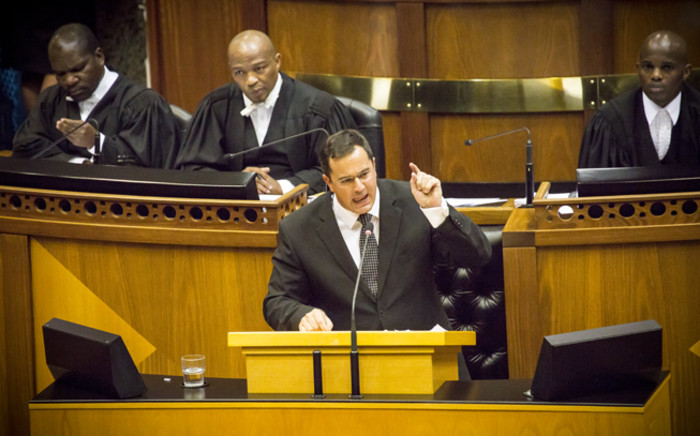 FILE: DA chief whip John Steenhuisen in Parliament. Picture: Thomas Holder/EWN.