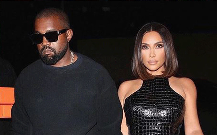 Kanye West and Kim Kardashian West. Picture: @kimkardashian/Instagram.