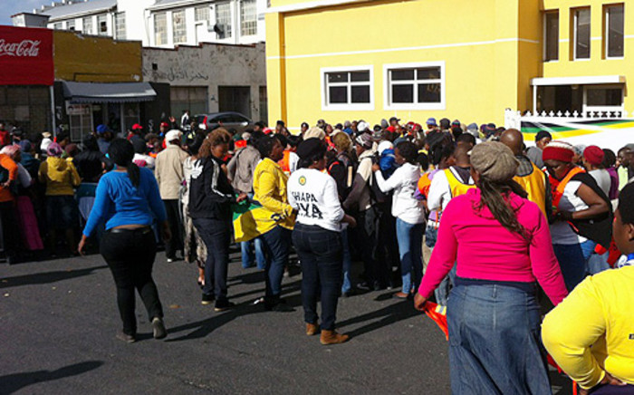 ANCYL members outside the Salt River Station on 27 July 2012. Picture: Nathan Adams/EWN