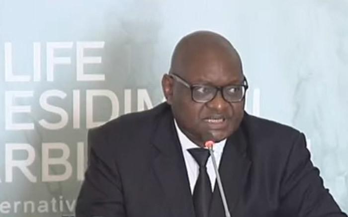 A screengrab of Gauteng Premier David Makhura testifying at the Life Esidimeni arbitration hearings in Parktown.