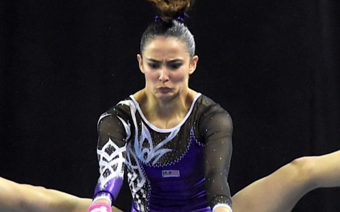 Farah Ann Abdul has received heated criticism over her leotard which is deemed to be too revealing. Picture: CNN