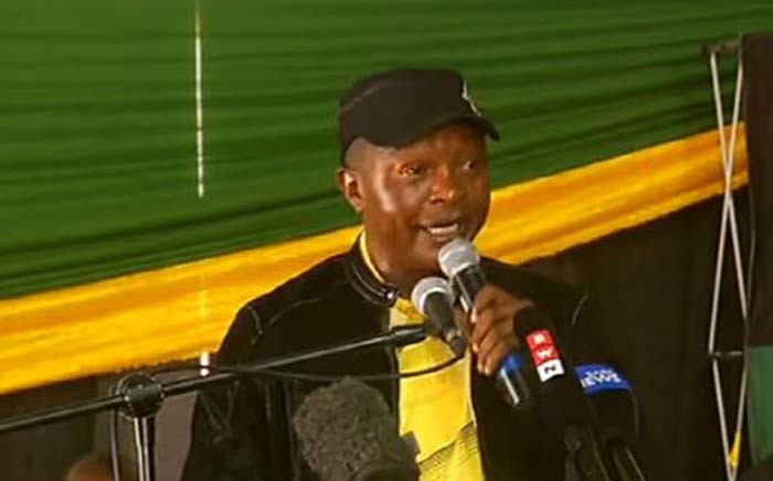 FILE: African National Congress (ANC) Mpumalanga chairperson David Mabuza at Mbombela Stadium on 1 December 2017. Picture: Screengrab.