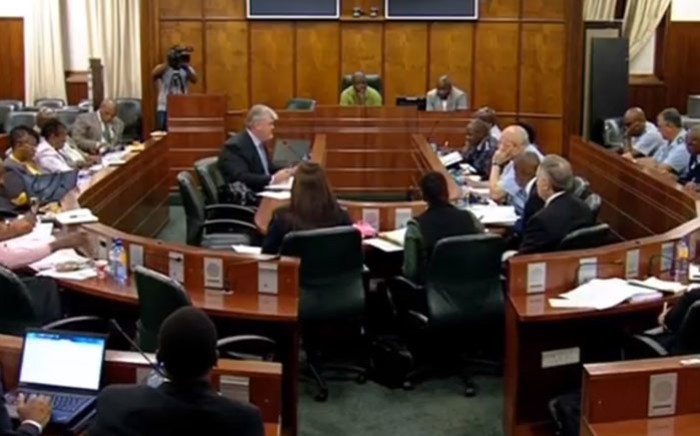 A screengrab of the SAPS and Ipid appearing before Parliament's Standing Committee on Public Accounts on 29 November 2017.