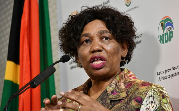Basic Education Minister Angie Motshekga at a briefing on 19 May 2020 in Pretoria explains the department's plans to reopen schools amid the coronavirus pandemic. Picture: GCIS