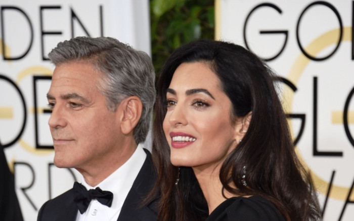 FILE: Actor George Clooney and his wife Amal Clooney. Picture: AFP.