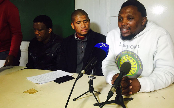 Ses'khona People's Rights Movement, led by Andile Lili, has accused the ANC of not upholding its promises. Picture: Siyabonga Sesant/EWN