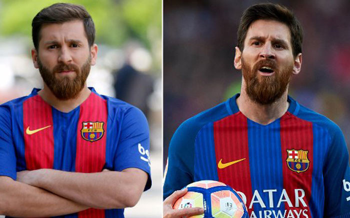 Reza Parastesh the Lionel Messi lookalike. Picture: Twitter.