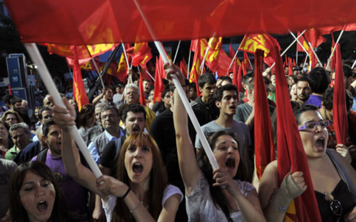 Protesters in Greece. Picture: AFP