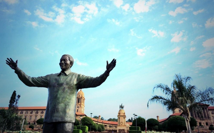 Tata Madiba's Statue at the Union Buildings in Pretoria. Picture: Barry Bateman/EWN.