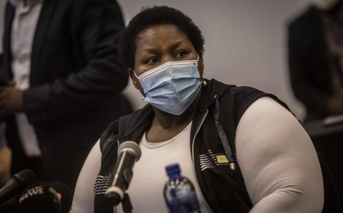 Gauteng Health MEC Dr Nomathemba Mokgethi at the Nasrec Field Hospital in Johannesburg on 25 January 2021. Picture: Abigail Javier/Eyewitness News