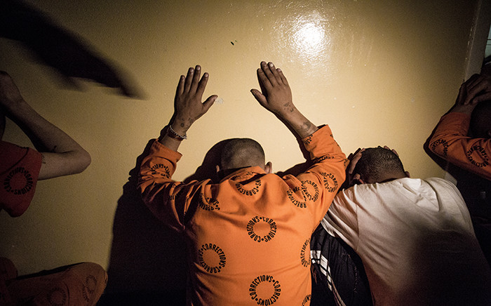 FILE: Prisoners are detained during a search and seizure in Pollsmoor Prison. Picture: Thomas Holder/EWN.