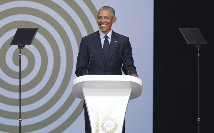 FILE: Former US president Barack Obama speaks at the 16th Nelson Mandela Annual Lecture at the Wanderers Stadium. Picture: Christa Eybers/EWN