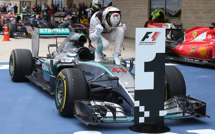 That moment... Lewis Hamilton won his third Formula 1 Championship on 25 October 2015. Picture: Mercedes AMG Petronas/Facebook