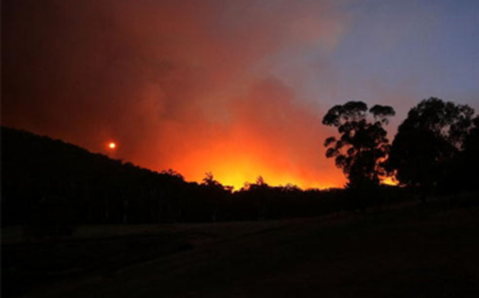FILE: A fire blazes during the bushfires that swept through the region in Healesville, Australia. Picture: Gallo Images/Getty Images