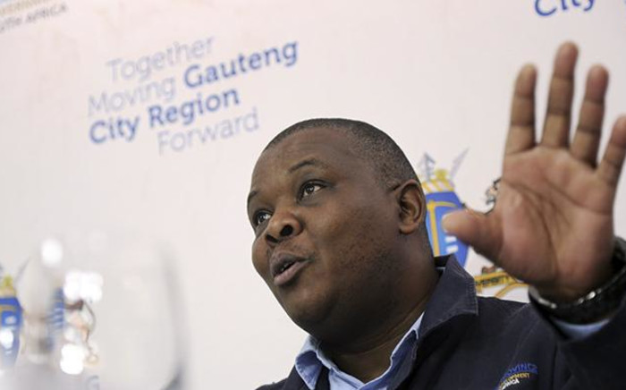 Jacob Mamabolo MEC for Infrastructure Development (DID) in Gauteng says that seven shacks in the West Rand have been completely destroyed by a hailstorm that struck the province on 30 December, 2017. Picture: Sethembiso Zulu/EWN