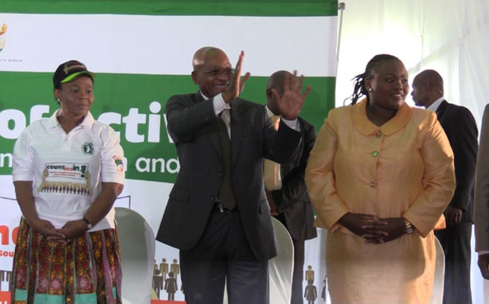 President Jacob Zuma has launched this year's 16 Days of Activism for No Violence against Women and Children campaign in Reiger Park on 25 November 2014. Picture: Vumani Mkhize/EWN.